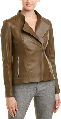 Lafayette 148 New York Warren Leather Jacket