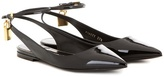 Tom Ford Embellished Patent Leather Ballerinas