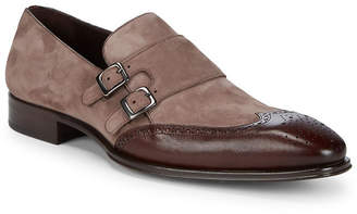 Mezlan Leather Captoe Monk Strap Dress Shoes