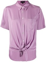 Theory knotted short sleeved shirt