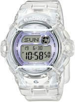 Baby-G Women's Digital Clear Resin Strap Watch 45x42mm BG169R-7E