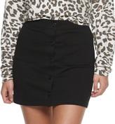 Juniors' Joe B Button Front Skirt