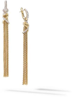 David Yurman Helena Tassel Earrings In 18K Yellow Gold With Diamonds