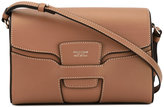 Giorgio Armani stitching detail small crossbody bag - women - Calf Leather - One Size