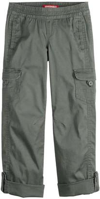 UNIONBAY Girls' 7-16 Twill Utility Convertible Pull-on Pants