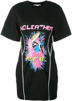 Stella McCartney No Leather pleated T-shirt dresss