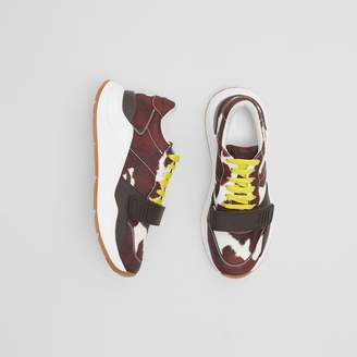Burberry Cow Print Nylon Sneakers