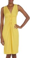 BCBGMAXAZRIA Twisted-Front Jersey Dress, Bamboo