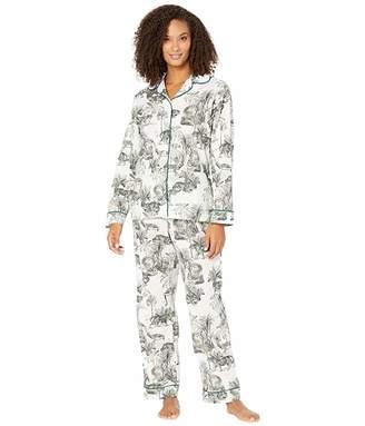 The Cat's Pajamas Tiger Toile Luxe Pima Pajama Set
