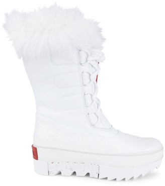 Sorel Joan of Arctic Next Faux Fur-Trimmed Patent Leather Boots