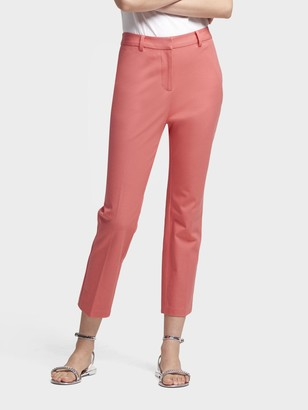 DKNY Women's High-rise Cropped Slim Ankle Pant - Coral - Size 0