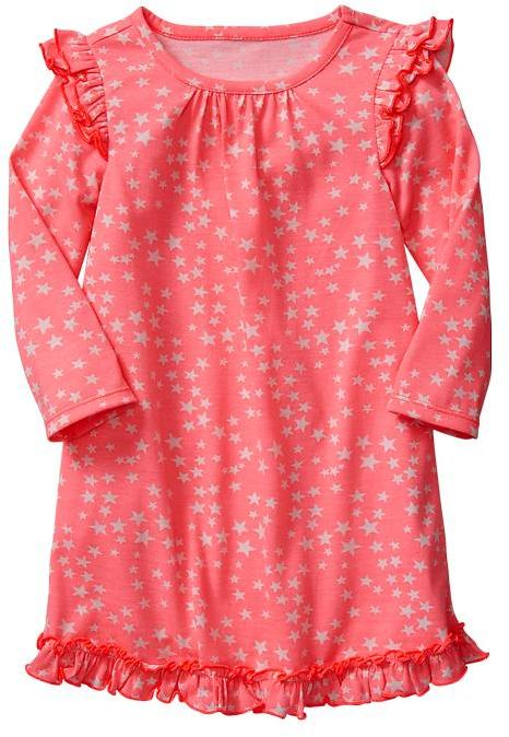 Gap Printed ruffle sleep dress