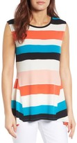 Chaus Women's Stretch Knit Stripe Tank