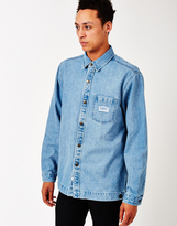 The Hundreds Settle Denim Shirt Blue