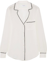 Equipment Keira Washed-silk Shirt - Cream