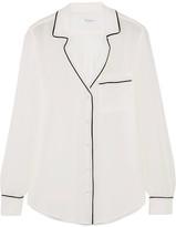 Equipment Keira Washed-silk Shirt - large