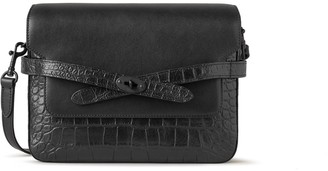 Mulberry Belted Bayswater Satchel Black Soft Printed Croc and Silky Calf