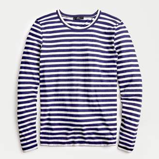 J.Crew Striped long-sleeve knot-back T-shirt