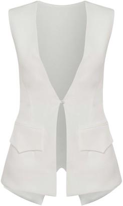 Cliché Reborn Tailored Waistcoat In White