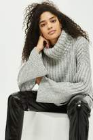 Topshop Chunky wide ribbed roll neck sweater