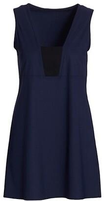 Karla Colletto Swim Aidan V-Neck Mini Cover-Up Dress