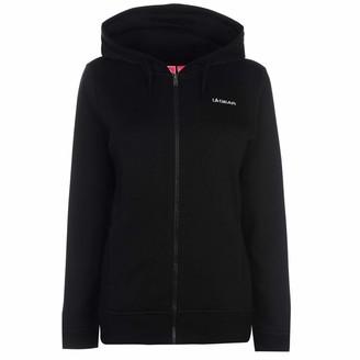 L.A. Gear Womens OTH Hoody Ladies Long Sleeve Casual Hoodie Sweat Top Black (M) 12