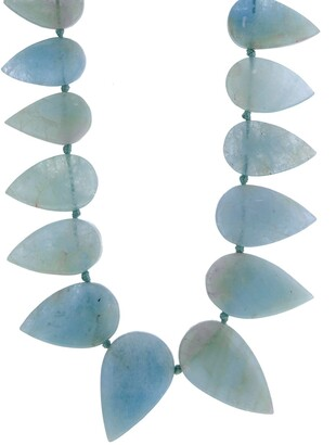Cathy Waterman Pear Cut Aquamarine Yellow Gold Necklace