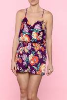 Everly Floral Purple Romper