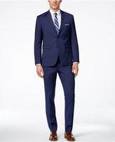Perry Ellis Portfolio Men's Medium Blue Mini Stripe Extra-Slim Fit Suit