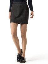 Tommy Hilfiger Wool Check Mini Skirt