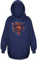 Chicago Bears Distressed Logo Hoodie - Big