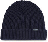 Burberry - Waffle-knit Stretch Wool-blend Beanie