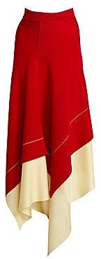 Victoria Beckham Women's Asymmetric Long Skirt