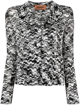 Missoni Striped Knit Blazer