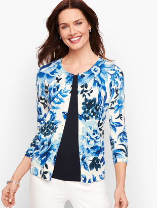 Talbots Charming Cardigan - Watercolor Blossom