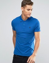 Asos Muscle Polo Shirt With Logo In Blue