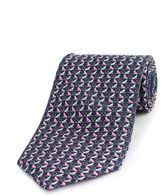 Thomas Pink Monkey Heart Print Tie