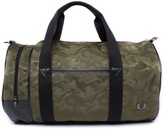 Fred Perry Jacquard Military Green Barrel Bag