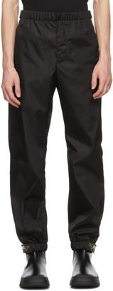 Prada Black Recycled Gabardine Track Pants