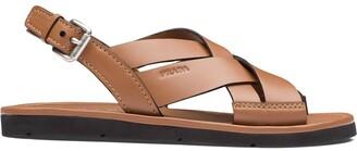 Prada Wide Band Sandals