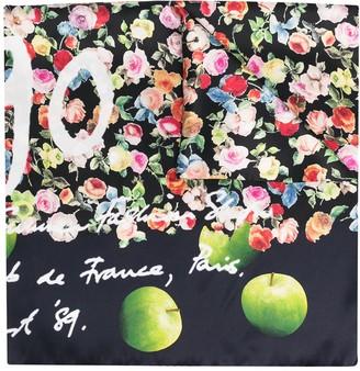 Paul Smith Floral-Print Silk Scarf