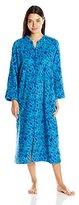 Miss Elaine Women's Long Zip Plush Robe