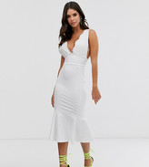 Asos Tall DESIGN Tall lace top bandage midi dress