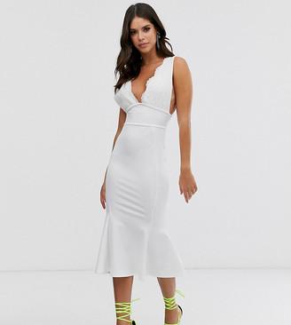 ASOS DESIGN Tall lace top bandage midi dress