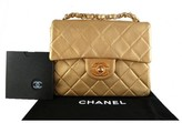 Chanel excellent (EX Gold Lambskin Classic 2.55 Flap Bag, Rare