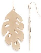 Aqua Koko Leaf Drop Earrings - 100% Exclusive