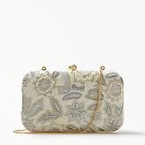 John Lewis Florence Boxed Clutch Bag, Neutral