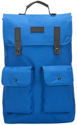 Consigned Twin Front Pocketed Backpack Blue