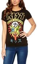 Logoshirt V Rock - Kiss - Hotter Than Hell Logo Women's T-Shirt