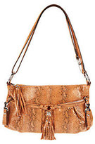 B. Makowsky As Is East/West Leather Crossbody Bag